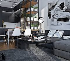 Designs by Style: Black And White Interior With Greenery - Monochromatic  Interiors