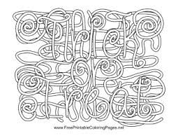 Small Picture Halloween Hidden Word Coloring Page
