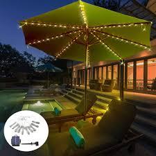 Tent String Lights Amazon Com Solar Powered Patio Umbrella Lights 8 Lighting