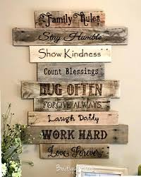 wall art decoration ideas family rules rustic sign rustic wall art decor ideas from craft mart