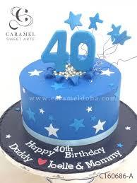40th Birthday Cake Custom Cakes Cakes And Desserts