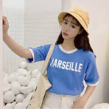 2018 <b>Korean Fake Two Piece</b> Printed Short Sleeve Women T shirts ...