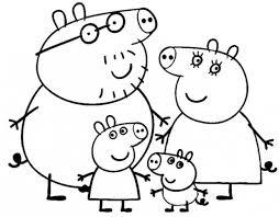 La Famiglia Di Peppa Pig Da Colorare Cose Per Crescere