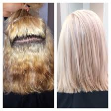 Color Correction Platinum Blonde Achieved By