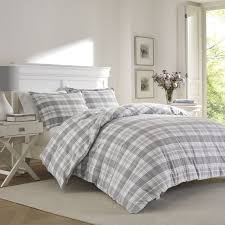 mulholland plaid flannel duvet set by laura ashley home