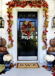 fall front door decorationsBudget Fall Decorating Ideas For the Front Door  Thistlewood Farm