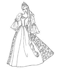 Small Picture Great Barbie Princess Coloring Pages 71 For Line Drawings with
