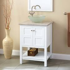 24 everett vessel sink vanity white
