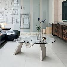Tomo coffee table with two round glass tops. Ideally suits contemporary living  room interior.