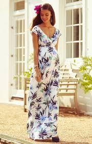 Alana Maternity Maxi Dress Inky Tropics Maternity Wedding