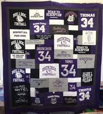 Quilts Made From Football Jerseys & Football jersey t-shirt quilt Adamdwight.com