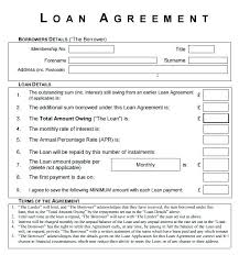 Yearly Contract Template Amazing Borrowing Money Contract Sample Loan Agreement Template Simple Cash