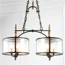 seeded glass chandelier transition linear shade