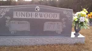 Iva Warren Underwood (1915-1999) - Find A Grave Memorial