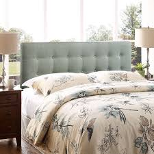 Image of: Gray King Size Tufted Headboard