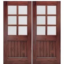 mai doors a76gp 2 72 x80 6 lite v groove panel entry double