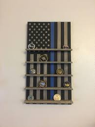 brothers in blue flag challenge coin rack thin blue line challenge coin rack thin blue line coin holder police