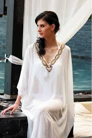 Long White Beach Kaftan White Caftan Dress Pinterest Beach