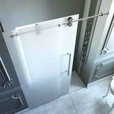 frosted glass shower doors inch frosted glass sliding shower door frosted glass sliding shower doors