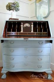 painted secretary desk luxury secretary desk makeover w duck egg blue 3 colored wa chalk