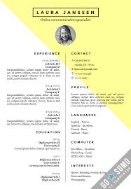 Editable Resume Template Custom CV Resume Template Stockholm