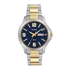men s watches for jewelry watches jcpenney citizen® mens two tone stainless steel blue dial bracelet watch bf2004 57l
