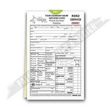 custom service invoices custom carbonless black towing road service accident invoice form
