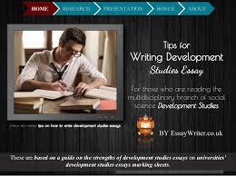 tips for writing development studies essay