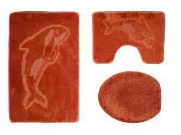 Badgarnitur 3 Tlg Terracotta Badvorleger Wc Bezug Vorleger F