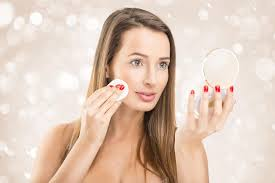woman holding mirror. Contemporary Woman Beautiful Woman Holding Makeup Mirror And Applying Makeup U2014 Photo By  Geribody On Woman Holding Mirror R