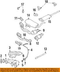 vw volkswagen oem 96 99 jetta 2 0l l4 exhaust front pipe gasket 99 jetta exhaust diagram at 99 Jetta Exhaust Diagram