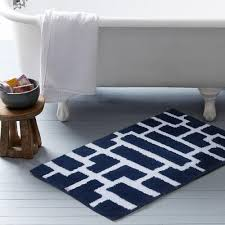 lovely navy bath rug blue and white bath rug roselawnlutheran