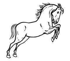 Un Cavallo Imbizzarrito Disegno Da Colorare Per Bambini Disegni Da