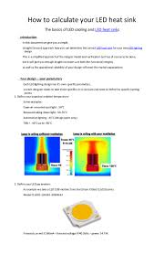 Led Heat Sink Design How To Calculate Your Led Heat Sink