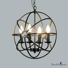 black birdcage chandelier frightening matte vintage style 4 light globe cage square stirring 6 rustic frightenin black iron cage chandelier