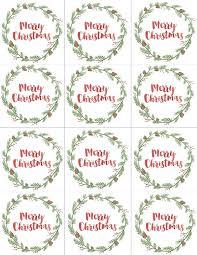 Free Printable Christmas Gift Tags U0026 Labels December Printable Of Christmas Gift Tag Design
