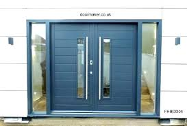 image of modern double front doors contemporary uk