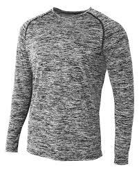 A4 N3305 Mens Space Dye Long Sleeve Raglan T Shirt