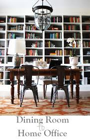 finished office makeover. My Home Office Makeover (built-in Bookcases, Farmhouse Table, Metal Chairs, Finished E
