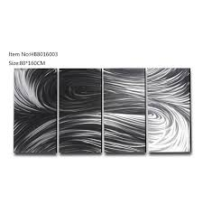 large size abstract handpaint 3d metal