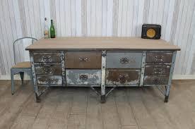 vintage industrial metal kitchen island work bench