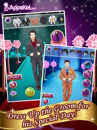 one groom wedding date salon dress up and makeover games hd free screenshot 7