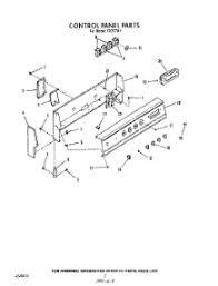 parts for roper fw range com 02 control panel parts for roper range f9757w1 from com