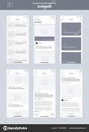List Ux Design Wireframe Kit Mobile Phone Mobile App Design New Articles