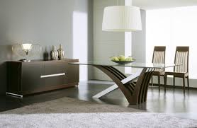 dining room minimalist modern glass dining table square with