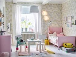 ikea children bedroom furniture. A Pink, White And Yellow Children\u0027s Bedroom With Extendable BUSUNGE Bed In Light Pink To Ikea Children Furniture