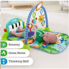 fisher kick and play piano baby gym