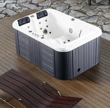 new two 2 person hydrotherapy bathtub hot bath tub whirlpool heated outdoor spa