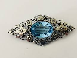 antique aquamarine pendant france around 1920