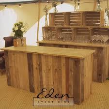 rustic wooden bar unit